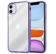 ShieldCase® Metallic bumper case iPhone 12  - 6.1 inch (paars)