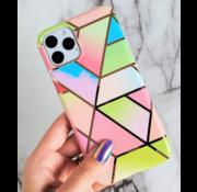 ShieldCase® iPhone 11 hoesje marmeren patroon (regenboog)