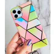 ShieldCase® Rainbow Pattern Marmer iPhone 11 hoesje