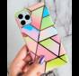 ShieldCase iPhone 11 hoesje marmeren patroon (regenboog)