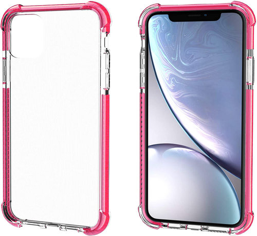 ShieldCase® ShieldCase bumper shock case iPhone 12 - 6.1 inch (roze)