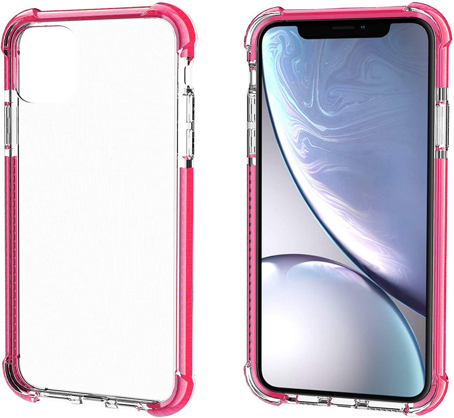 ShieldCase bumper shock case iPhone 12 - 6.1 inch (roze)