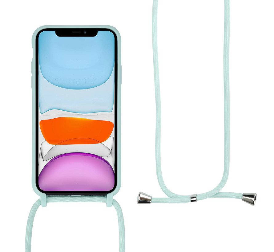 ShieldCase Hoesje met koord iPhone 12 - 6.1 inch (mint)