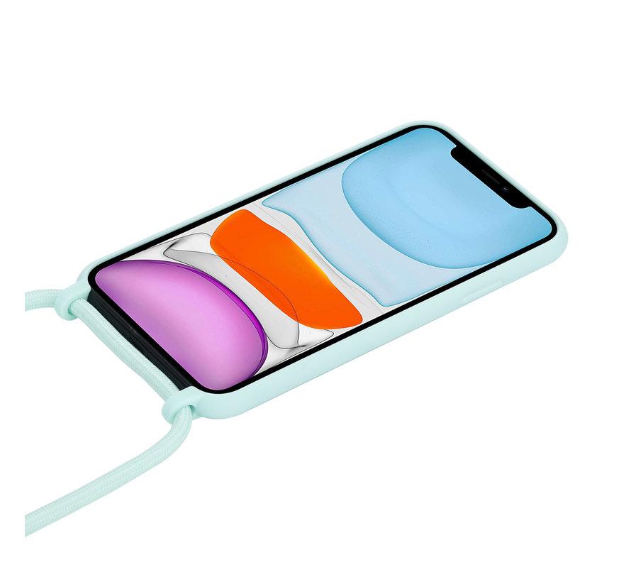 ShieldCase Magic Mint iPhone 12 - 6.1 inch hoesje met koord (mint)