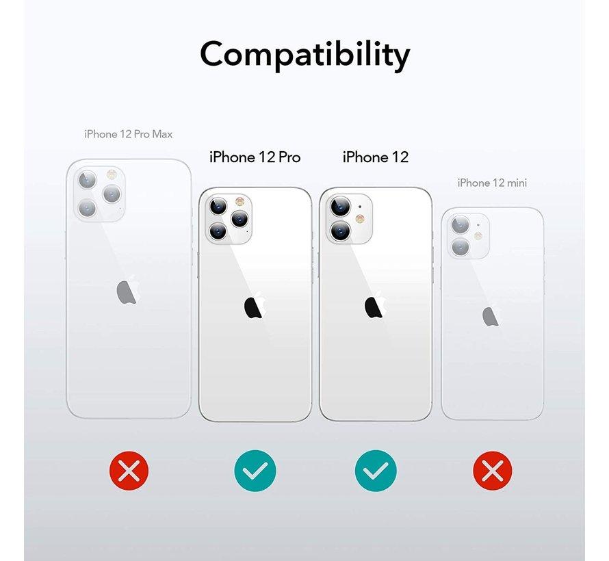 Shieldcase iPhone 12 - 6.1 inch hoesje leer (grijs)
