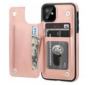 ShieldCase® Wallet case iPhone 12 Mini - 5.4 inch (roze)