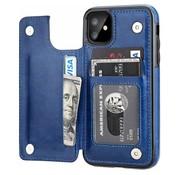 ShieldCase® Wallet case iPhone 12 Mini - 5.4 inch (blauw)