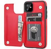 ShieldCase® Wallet case iPhone 12 Mini - 5.4 inch (rood)