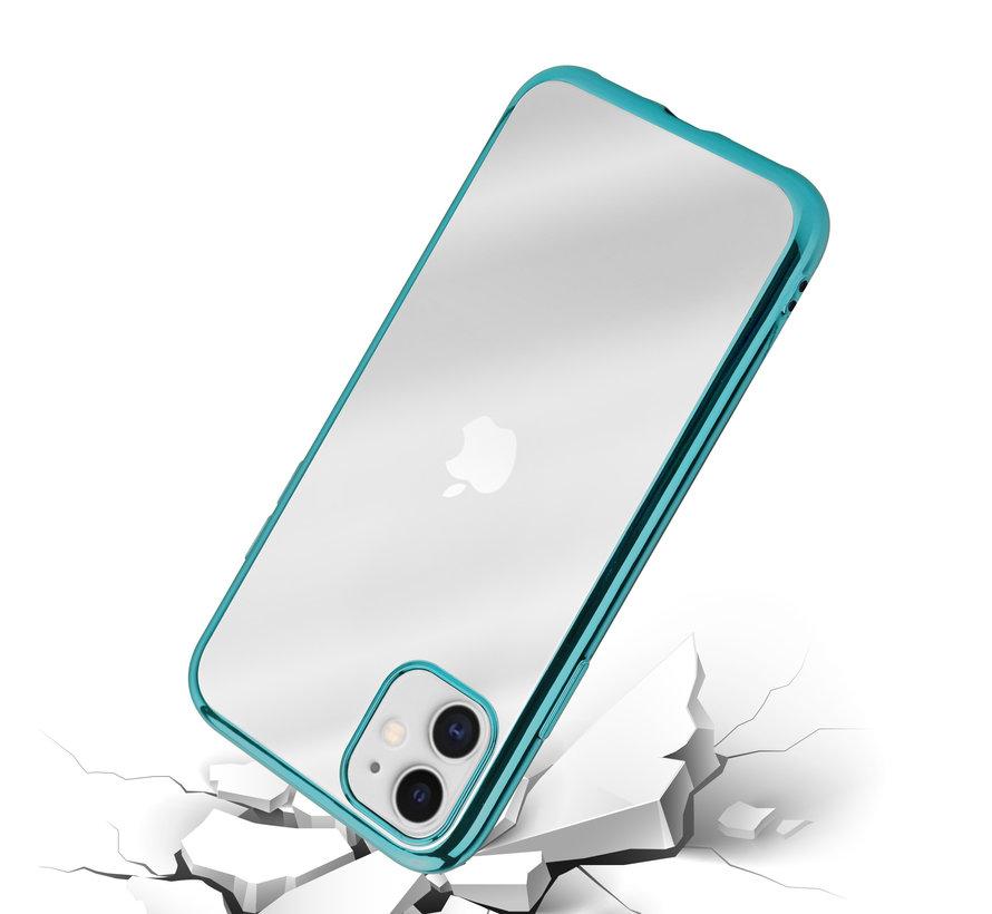 ShieldCase Metallic bumper case iPhone 12 Mini - 5.4 inch (groen)