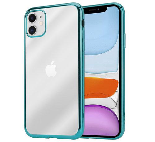 ShieldCase® ShieldCase Metallic bumper case iPhone 12 Mini - 5.4 inch (groen)