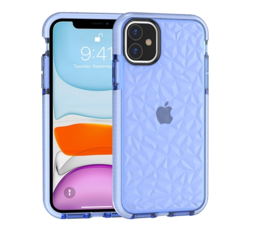 ShieldCase® ShieldCase diamanten case iPhone 12 - 6.1 inch (blauw)