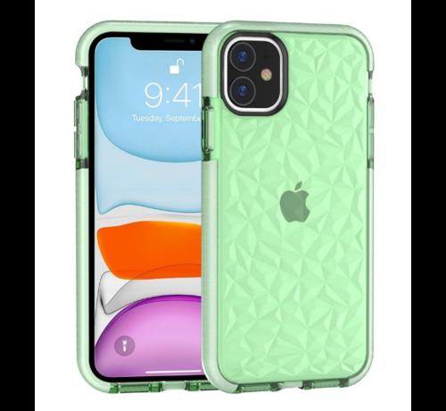 ShieldCase® ShieldCase diamanten case iPhone 12 - 6.1 inch (groen)
