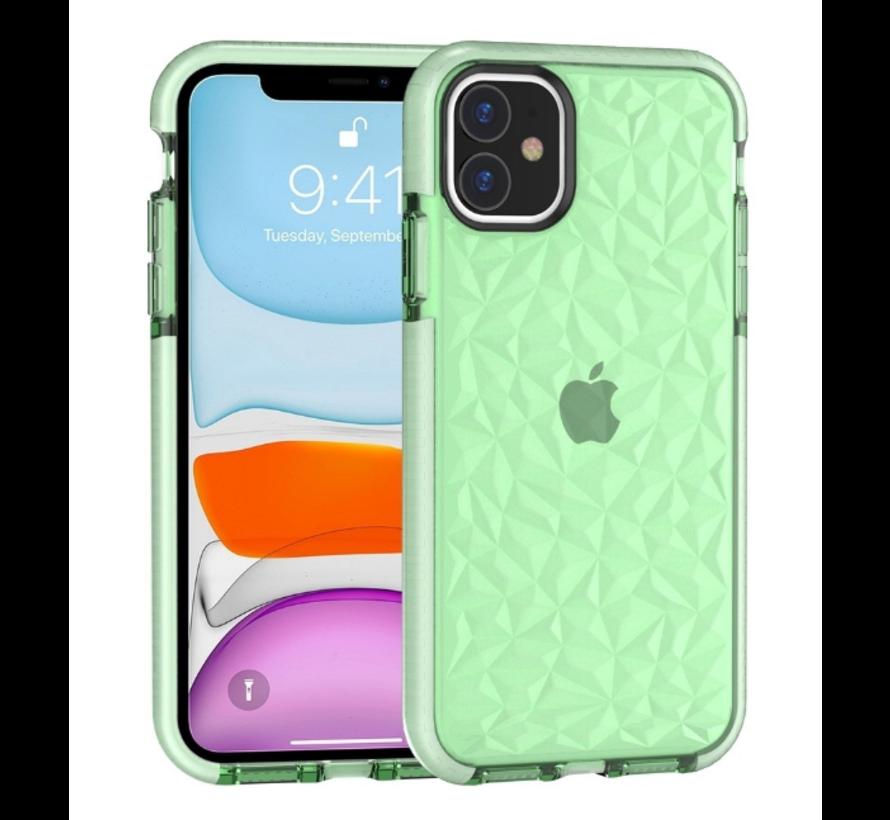 ShieldCase diamanten case iPhone 12 - 6.1 inch (groen)