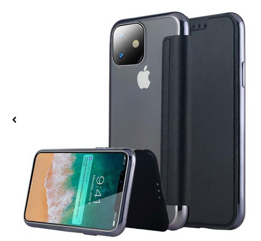 ShieldCase gegalvaniseerde flip case iPhone 12 - 6.1 inch (zwart)