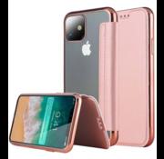 ShieldCase® Gegalvaniseerde flipcase iPhone 12 - 6.1 inch (roze)