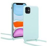ShieldCase® Magic Mint iPhone 12 - 6.1 inch hoesje met koord (mint)