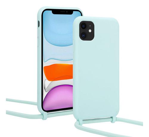 ShieldCase® ShieldCase Hoesje met koord iPhone 12 - 6.1 inch (mint)