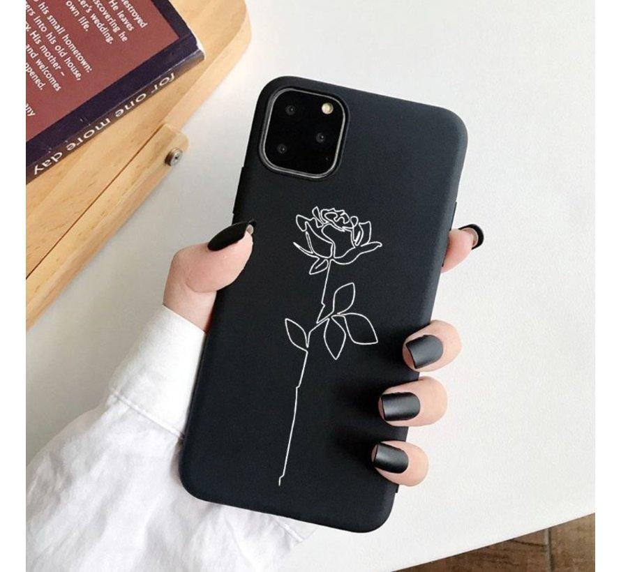 ShieldCase iPhone 12 - 6.1 inch hoesje met witte roos