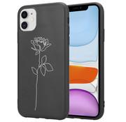 ShieldCase® iPhone 12 - 6.1 inch hoesje met witte roos