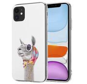 ShieldCase® iPhone 12 - 6.1 inch hoesje met lama print