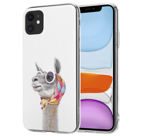 ShieldCase® ShieldCase iPhone 12 - 6.1 inch hoesje met lama print