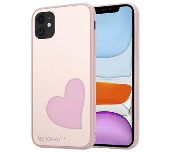 ShieldCase® iPhone 12 - 6.1 inch hoesje met roze hartje