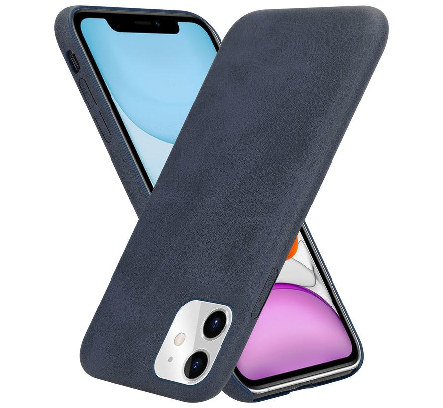 Shieldcase iPhone 12 - 6.1 inch hoesje leer (zwart)