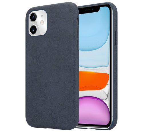 ShieldCase® Shieldcase iPhone 12 - 6.1 inch hoesje leer (zwart)