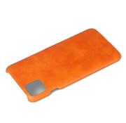ShieldCase® iPhone 12 - 6.1 inch vintage leren hoesje (oranje)