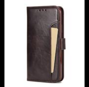 ShieldCase® iPhone 12 - 6.1 inch uitneembare book case (bruin)