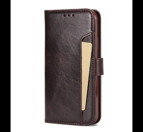 ShieldCase® ShieldCase iPhone 12 - 6.1 inch uitneembare book case (bruin)