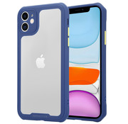 ShieldCase® iPhone 12 - 6.1 inch full protection case (paars/blauw)