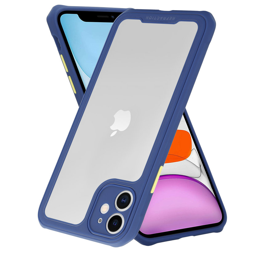Shieldcase iPhone 12 - 6.1 inch full protection case (paars/blauw)