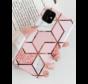 ShieldCase Pink Pattern iPhone 12 - 6.1 inch hoesje  (roze)