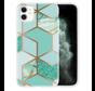 ShieldCase Green Pattern Marmer iPhone 12 - 6.1 inch hoesje (groen)