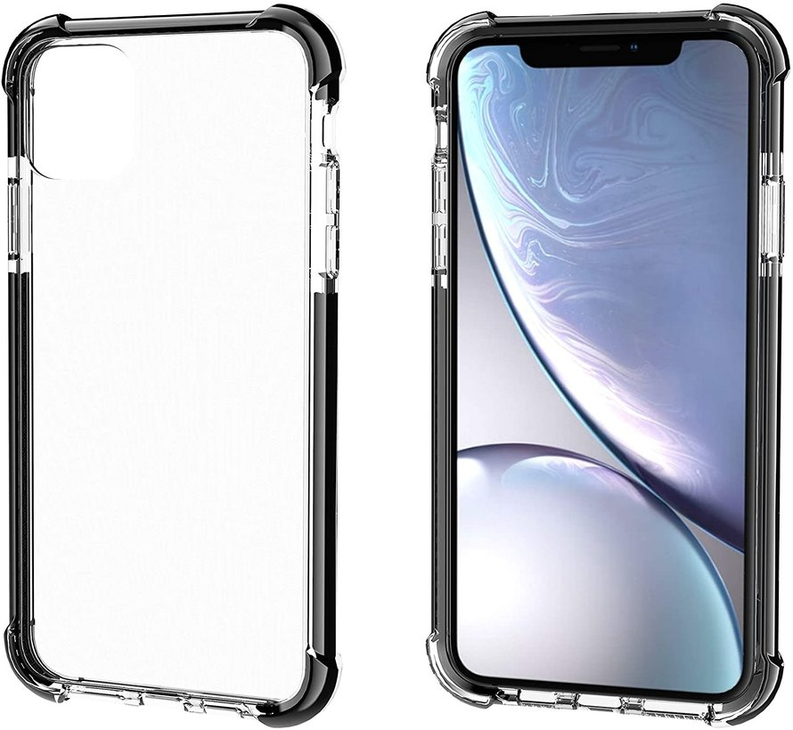 ShieldCase bumper shock case iPhone 12 Mini - 5.4 inch (zwart)