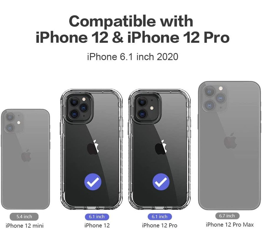 ShieldCase bumper shock case iPhone 12 Pro - 6.1 inch (roze)