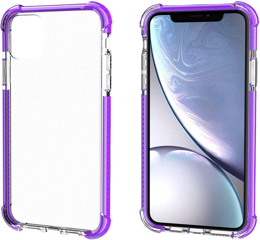 ShieldCase bumper shock case iPhone 12 Pro - 6.1 inch (paars)