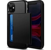 ShieldCase® Kaarthouder case met slide iPhone 12 Mini - 5.4 inch (zwart)
