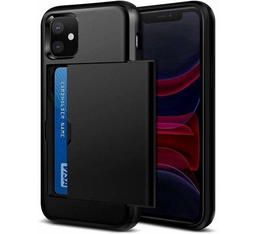 ShieldCase® ShieldCase Kaarthouder case met slide iPhone 12 Mini - 5.4 inch (zwart)