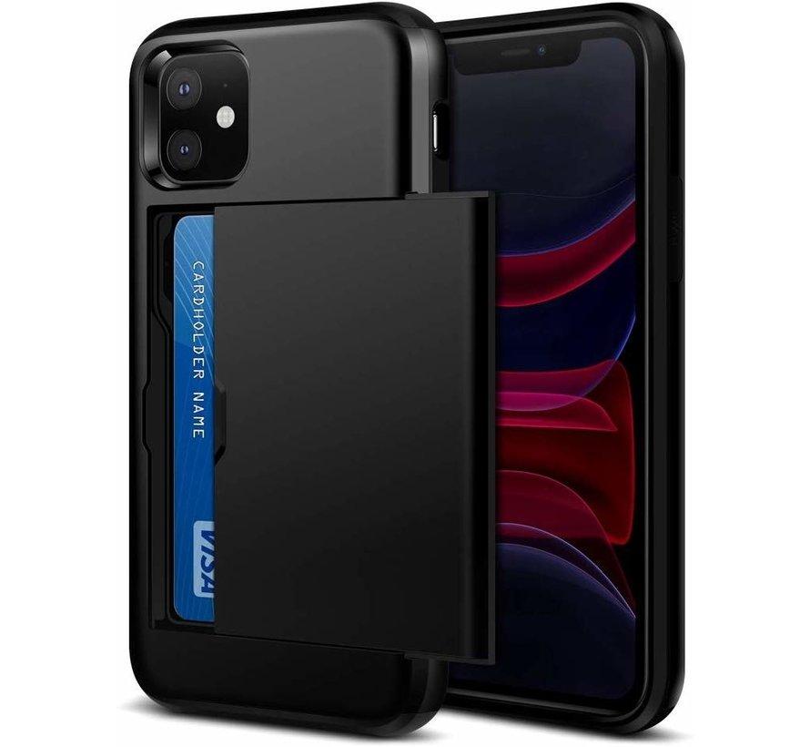 ShieldCase Kaarthouder case met slide iPhone 12 Mini - 5.4 inch (zwart)