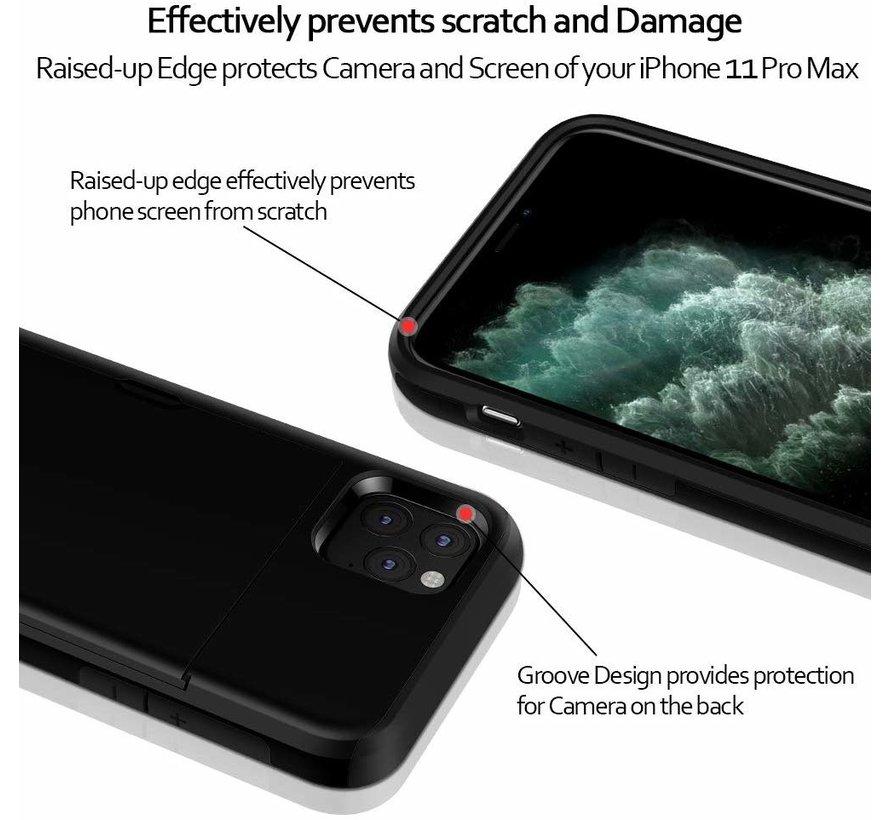 ShieldCase Kaarthouder case met slide iPhone 12 Pro - 6.1 inch (zwart)