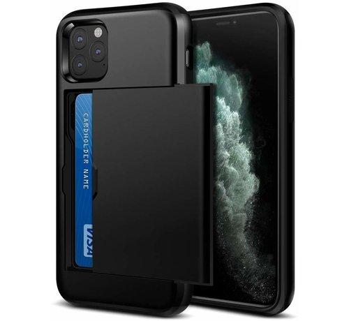ShieldCase® ShieldCase Kaarthouder case met slide iPhone 12 Pro - 6.1 inch (zwart)