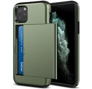 ShieldCase® Kaarthouder case met slide iPhone 12 Pro - 6.1 inch (groen)