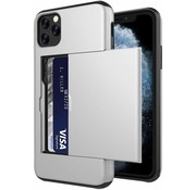 ShieldCase® Kaarthouder case met slide iPhone 12 Pro - 6.1 inch (zilver)