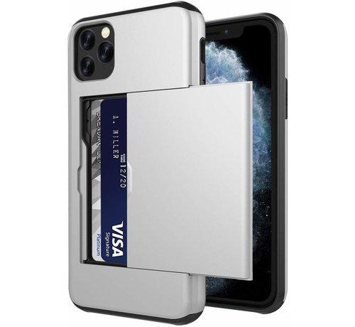 ShieldCase® ShieldCase Kaarthouder case met slide iPhone 12 Pro - 6.1 inch (zilver)