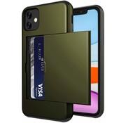 ShieldCase® Kaarthouder case met slide iPhone 12 Mini - 5.4 inch (groen)