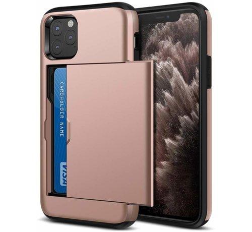 ShieldCase® ShieldCase Kaarthouder case met slide iPhone 12 Pro - 6.1 inch (roze)
