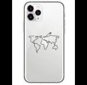 ShieldCase® iPhone 12 Pro - 6.1 inch hoesje met atlas/reis patroon
