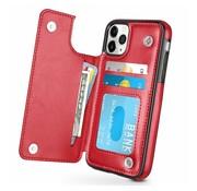 ShieldCase® Wallet case iPhone 12 Pro - 6.1 inch (rood)